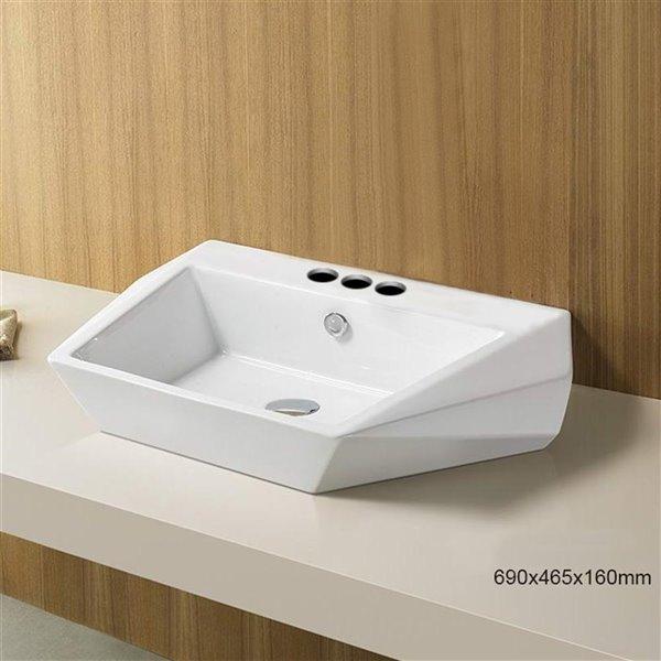 Vasque rectangulaire de American Imaginations, 27,2 po, blanc