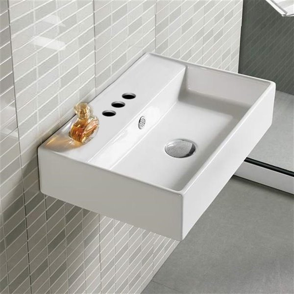 American Imaginations Wall-Mount Sink - 19.7-in - White