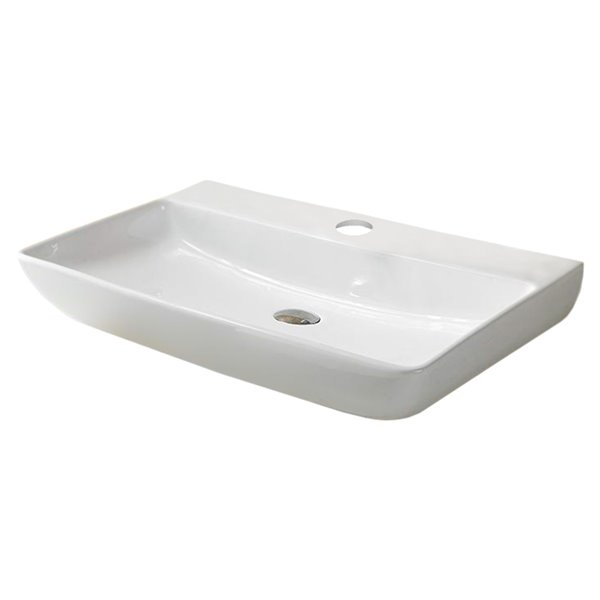 Vasque murale et rectangulaire de American Imaginations, 24 po, blanc