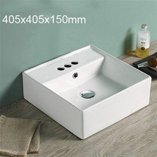 American Imaginations Vessel Bathroom Sink- 16-in - Matt White