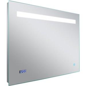 Miroir rétroéclairé par DEL rectangle de American Imaginations, 28 po, aluminium