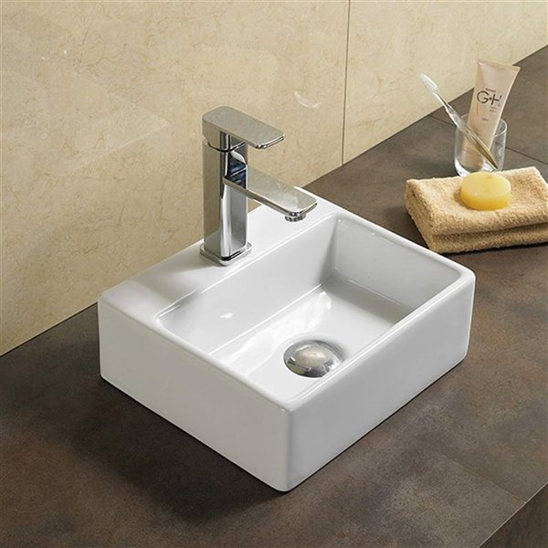 American Imaginations Vessel Sink - 13-in - White