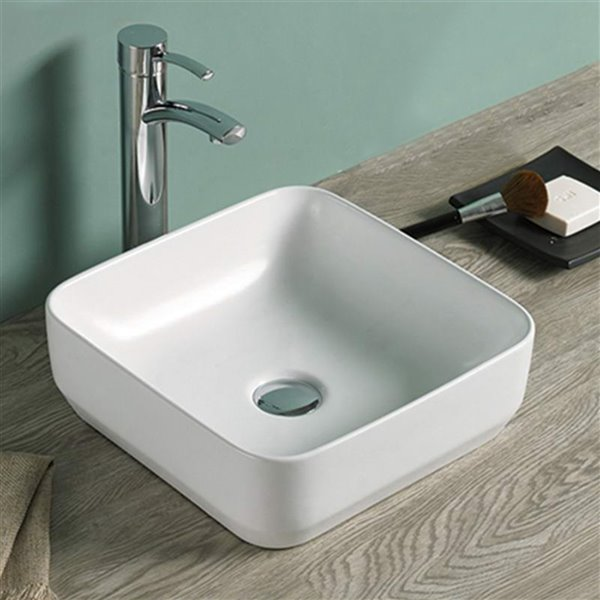 American Imaginations Vessel Sink - 14.2-in - Matt White