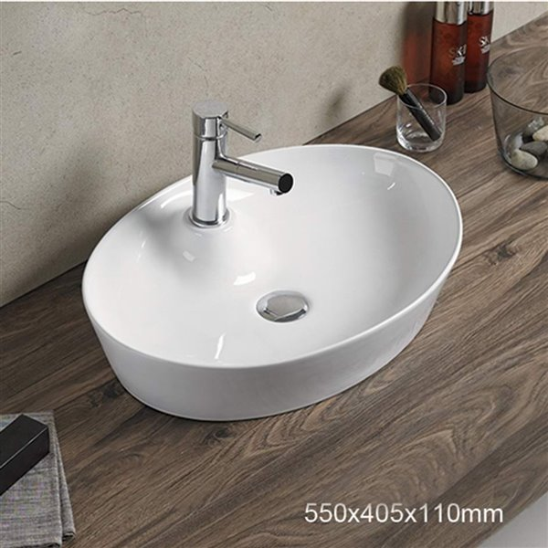 American Imaginations Vessel Sink - 21.7-in - White