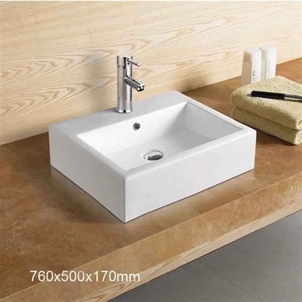 American Imaginations Vessel Sink - 29.9-in - White