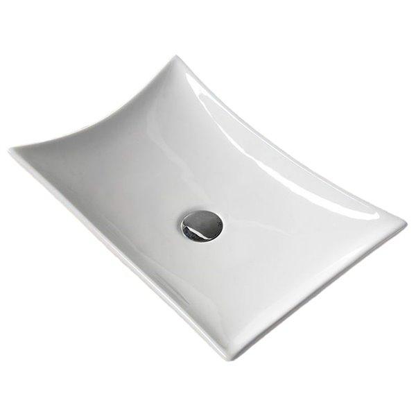 Vasque de American Imaginations, 22,6 po, blanc