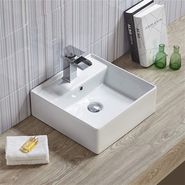 American Imaginations Vessel Sink - 18.1-in - White
