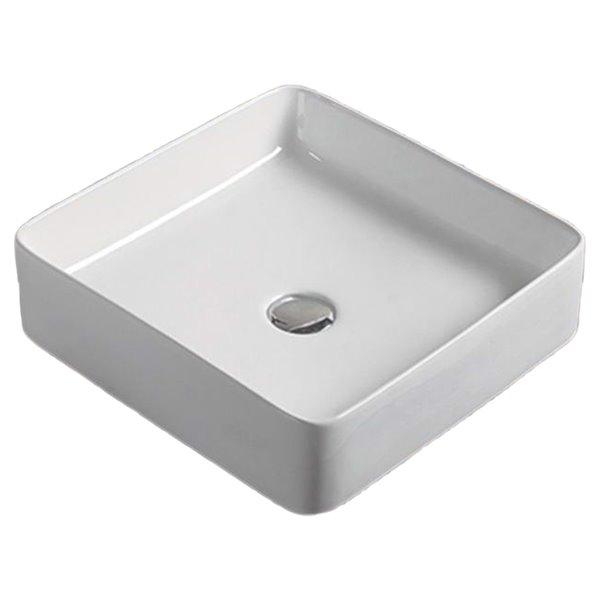 American Imaginations Vessel Sink - 16.1-in - White