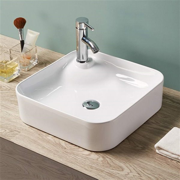 American Imaginations Vessel Sink - 16.9-in - White