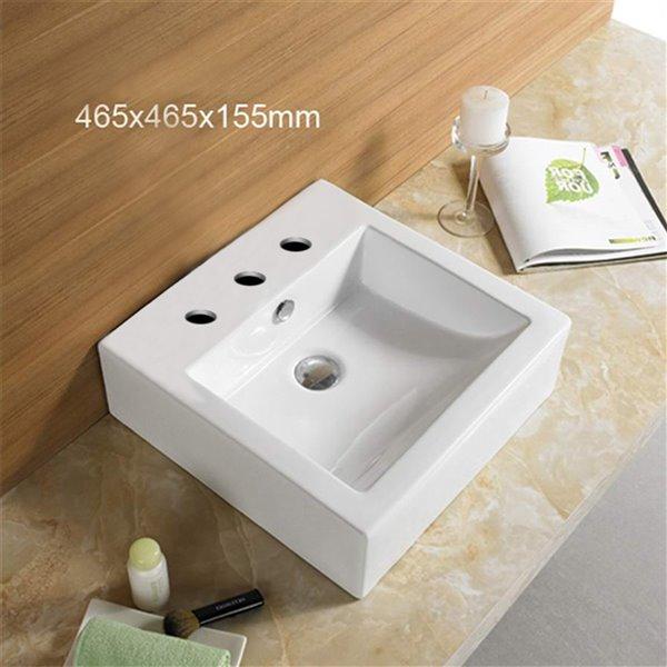 American Imaginations Bathroom Sink - 18.3-in - White