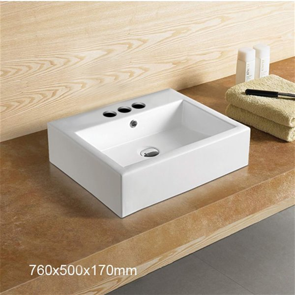 American Imaginations  Sink - 29.9-in - White