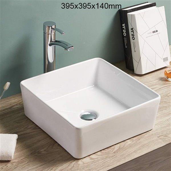 American Imaginations Vessel Sink - 15.6-in - White