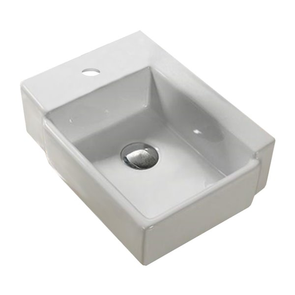 American Imaginations Vessel Sink - 16.5-in - White
