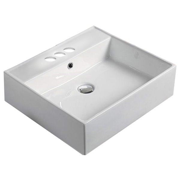 American Imaginations Vessel Sink - 20.7-in - White