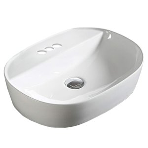 Vasque ovale de American Imaginations, 19,7 po, blanc