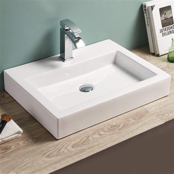 Vasque de American Imaginations, 24 po, blanc