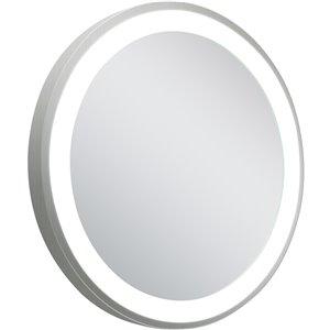 Miroir rétroéclairé à DEL rond de American Imaginations, 23 po, aluminium