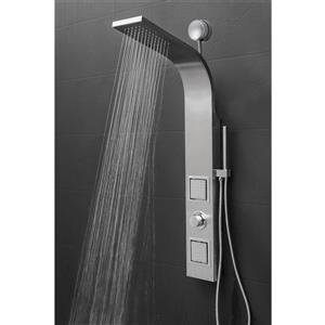AKDY Easy Connect Shower Panel System - Stainless Steel - 39-in