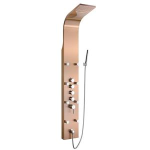 AKDY Simultaneously Operated Shower Panel System - Stainless Steel - Gold - 65-in