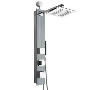 Panneau de douche Easy Connect d'AKDY, verre trempé, gris, 35 po