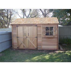 Remise de jardin Bayside à double porte de Cedarshed, 12 pi x 4 pi, brun