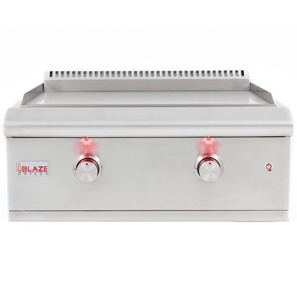 Plaque de cuisson au gaz propane Blaze avec lumières, 36,000 BTU, inox