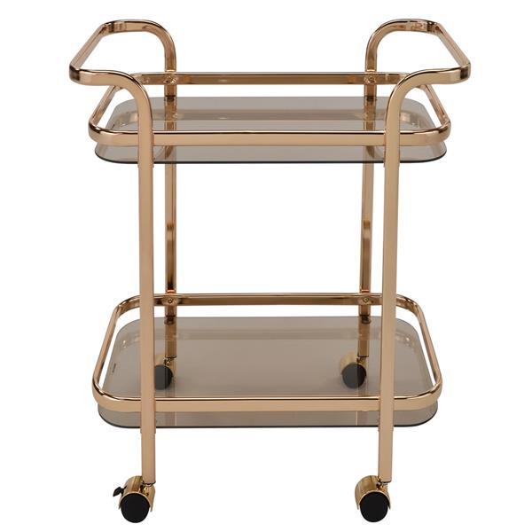 WHI 2 Tier Bar Cart - Gold