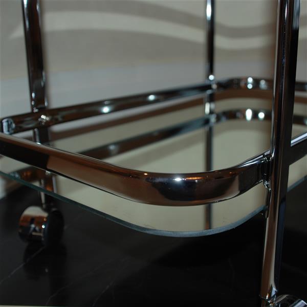 WHI 2 Tier Bar Cart - Chrome