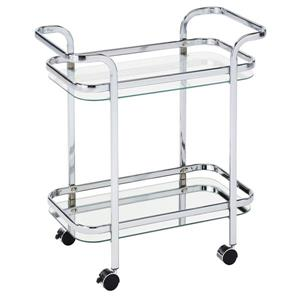 WHI 2 Tier Bar Cart - Chrome