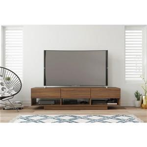 Nexera 105431 Rustik TV Stand -  72-inch -  3 Drawers -  Walnut