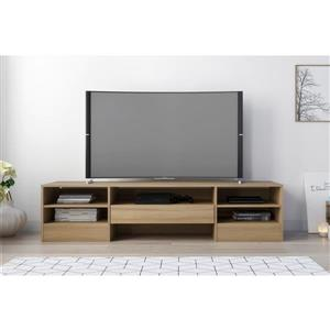 Nexera 109013 Rustik TV Stand -  72-inch -  1 Drawer -  Biscotti