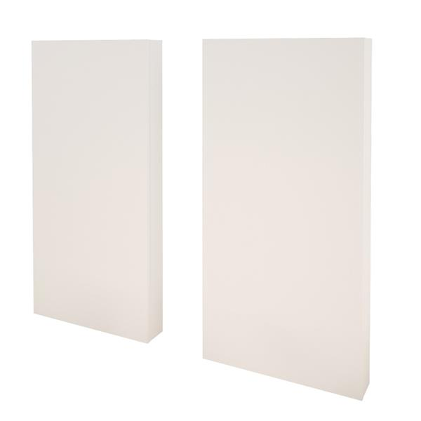 Ensemble de chambre à coucher 4 pièces Monroe, gris écorce et blanc, lit double