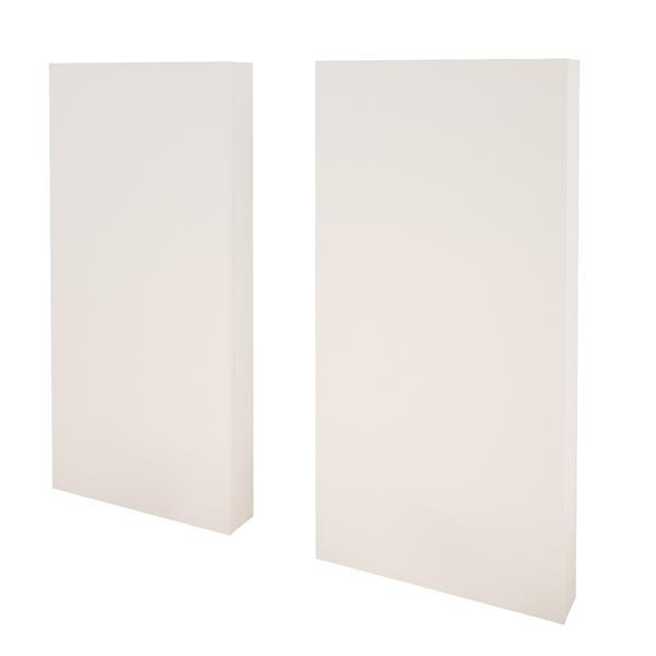 Nexera Interval 4 Piece Bedroom Set -  Bark Grey and White - Twin Size