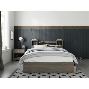 Nexera Pocono 3 Piece Bedroom Set -  Bark Grey - Full Size