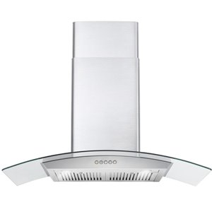 Cosmo Wall Mount Range Hood with LED Light - 760 CFM - 36-in - Stainless Steel