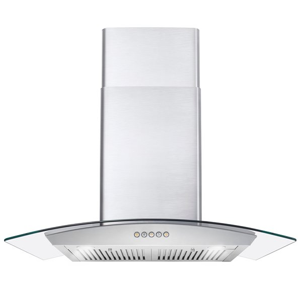 Cosmo Wall Mount Range Hood 380 Cfm 30 In Stainless Steel Cos 668a750 Rona