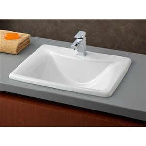 Cheviot Bali Drop-In Bathroom Sink - 21.25-in - White
