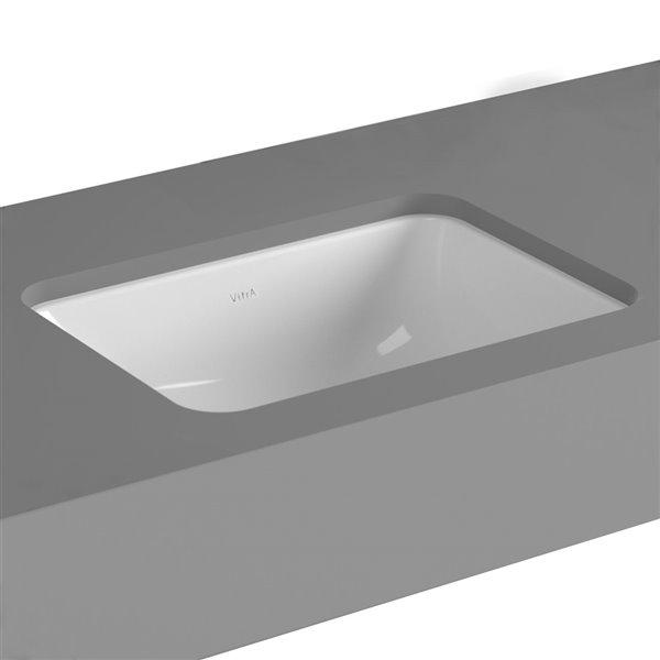 Cheviot Seville Undermount Bathroom Sink - 21.63-in - White