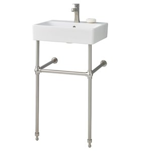 Cheviot Nuo Console Bathroom Sink - 19.75-in - White/Brushed Nickel