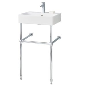 Cheviot Nuo Console Bathroom Sink - 19.75-in - White/Chrome