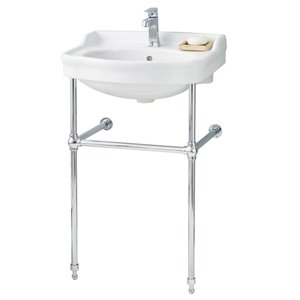 Cheviot Antique Bathroom Sink - Vitreous China - 22.50-in - White/Chrome
