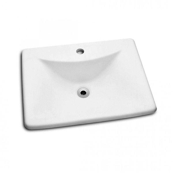 Cheviot Bali Bathroom Sink - 21.25-in - White