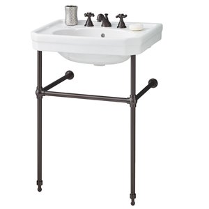 Cheviot Mayfair Console Bathroom Sink - 25-in - White