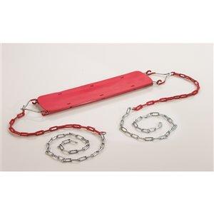 Siège de balançoire pour débutant de Creative Cedar Designs, rouge