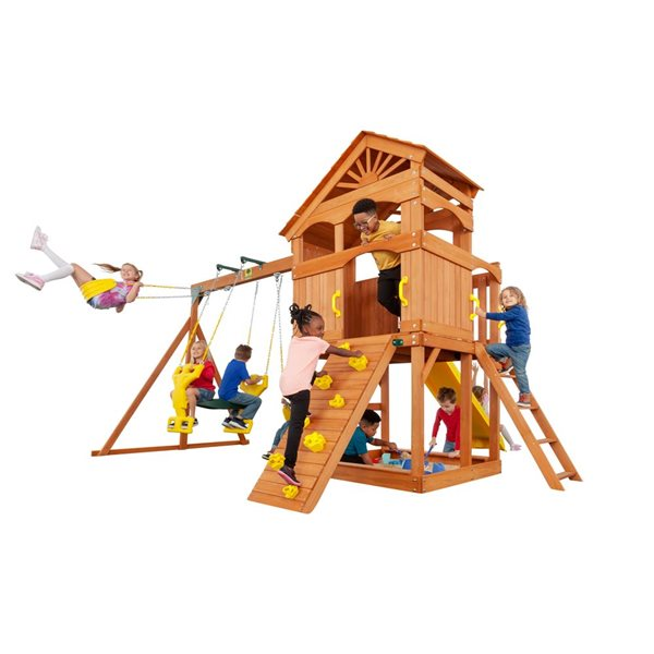 Creative Cedar Designs Timber Valley Playset -  Yellow