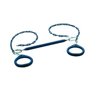 Creative Cedar Designs Circular Ring Trapeze Bar for exterior playset -  Blue