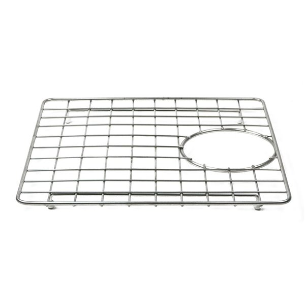 ALFI Brand Sink Grid - Back Center Drain - 12.4-in x 12.2-in - Stainless Steel