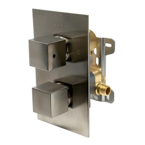 ALFI Brand Thermostatic Mixing Shower Valve - Brushed Nickel