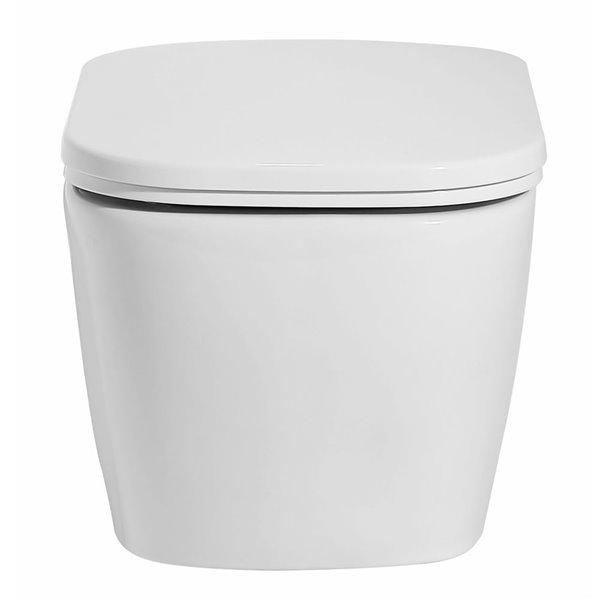 EAGO Wall Mount Toilet - Dual Flush - Comfort Height - 17.75-in - White