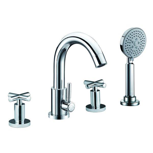 ALFI Brand Bathtub Faucet with Hand Shower - Polished Chrome